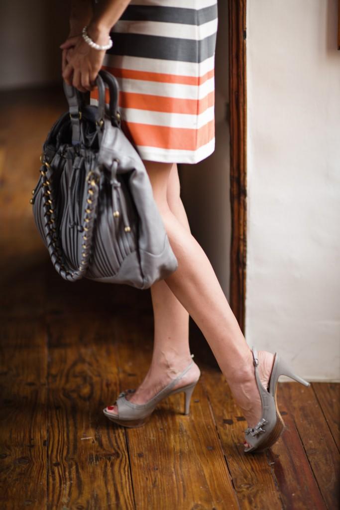 vestido rayas naranja azul vero moda (2)