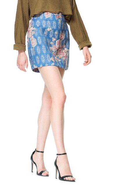 falda tapicería zara azul