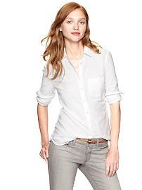 camisa oxford blanca mujer