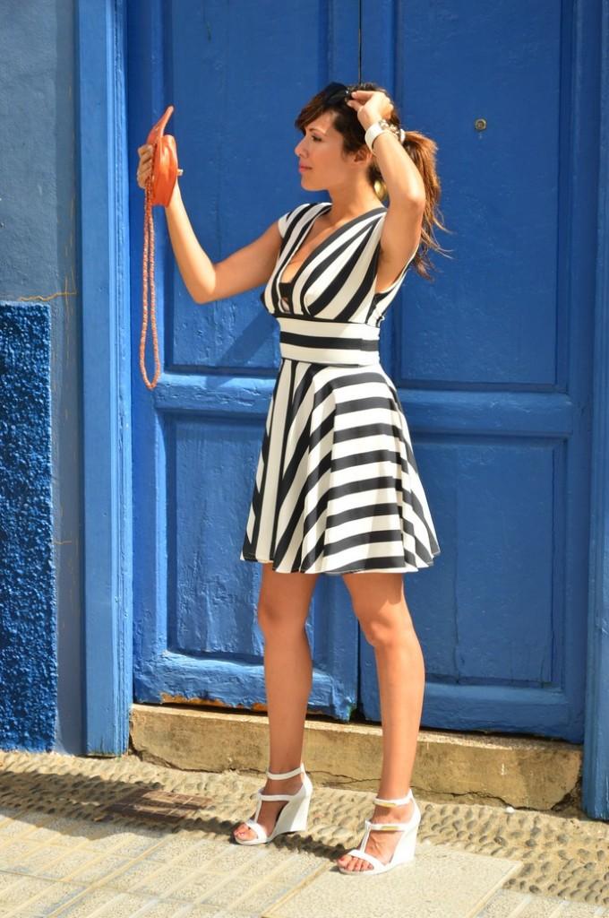 look skater blanco negro vestido naranja blogger tenerife (10)