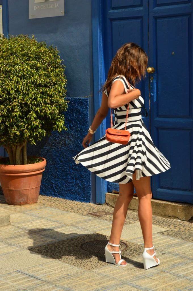 look skater blanco negro vestido naranja blogger tenerife (5)