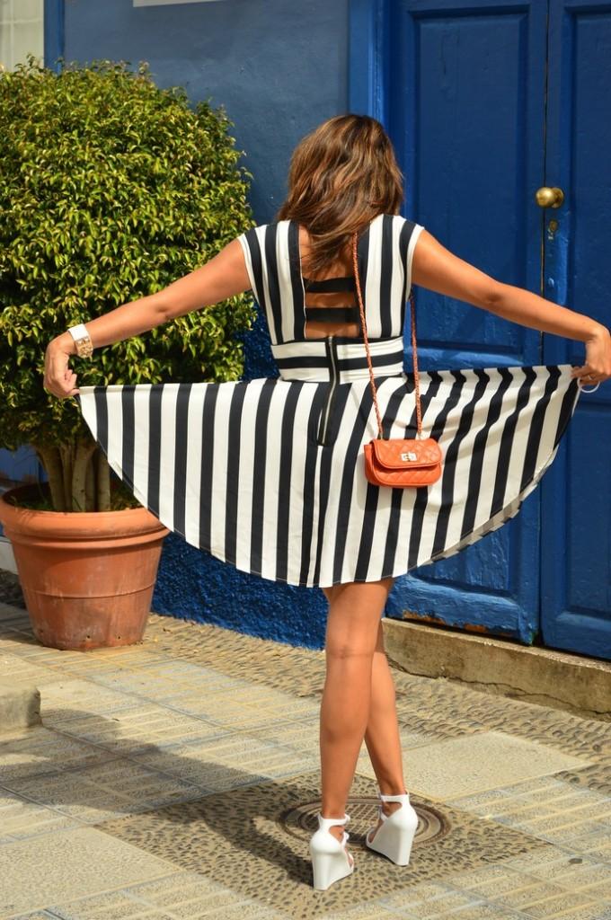 look skater blanco negro vestido naranja blogger tenerife (7)