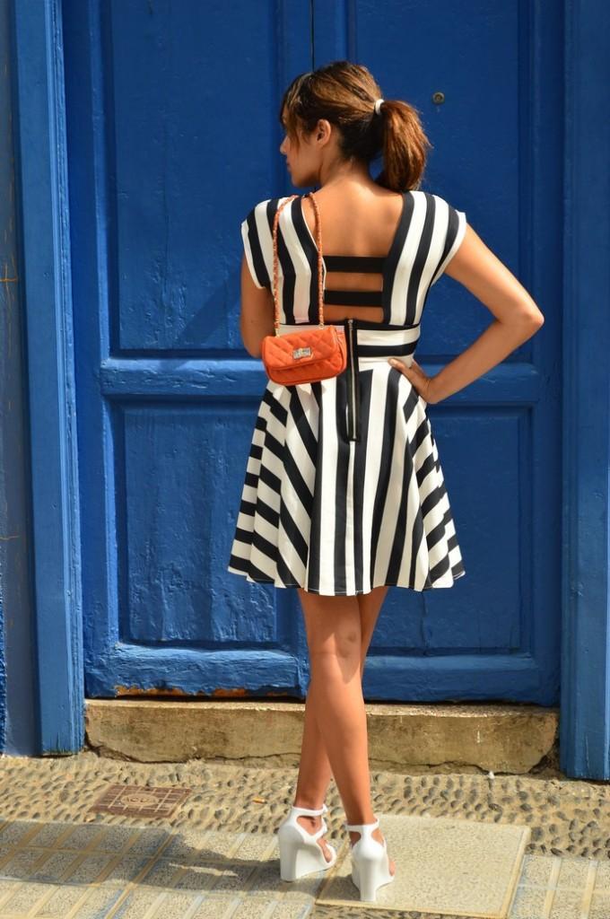 look skater blanco negro vestido naranja blogger tenerife (8)