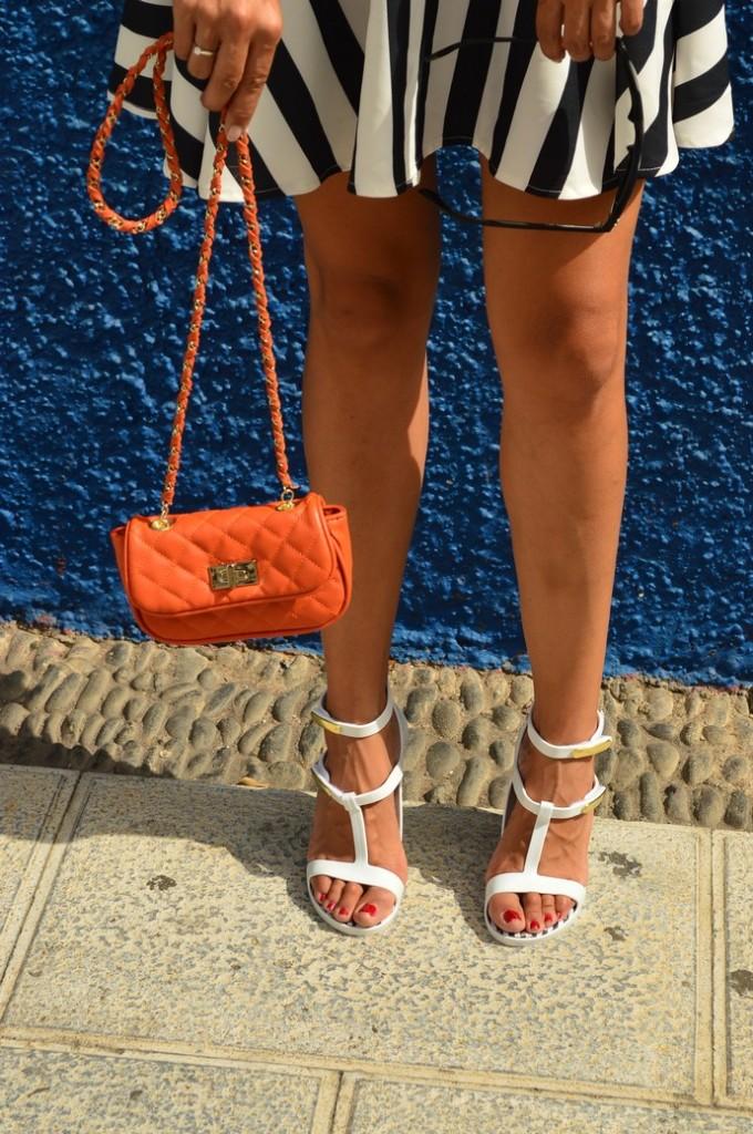 look skater blanco negro vestido naranja blogger tenerife (9)