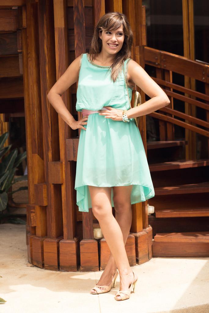 look vestido azul verde sirena pulseras cadenas teria yabar  miss fashionista (5)