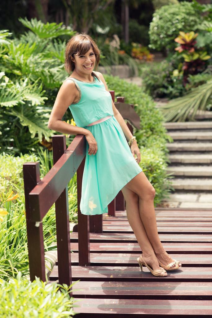 look vestido azul verde sirena pulseras cadenas teria yabar miss fashionista (8)