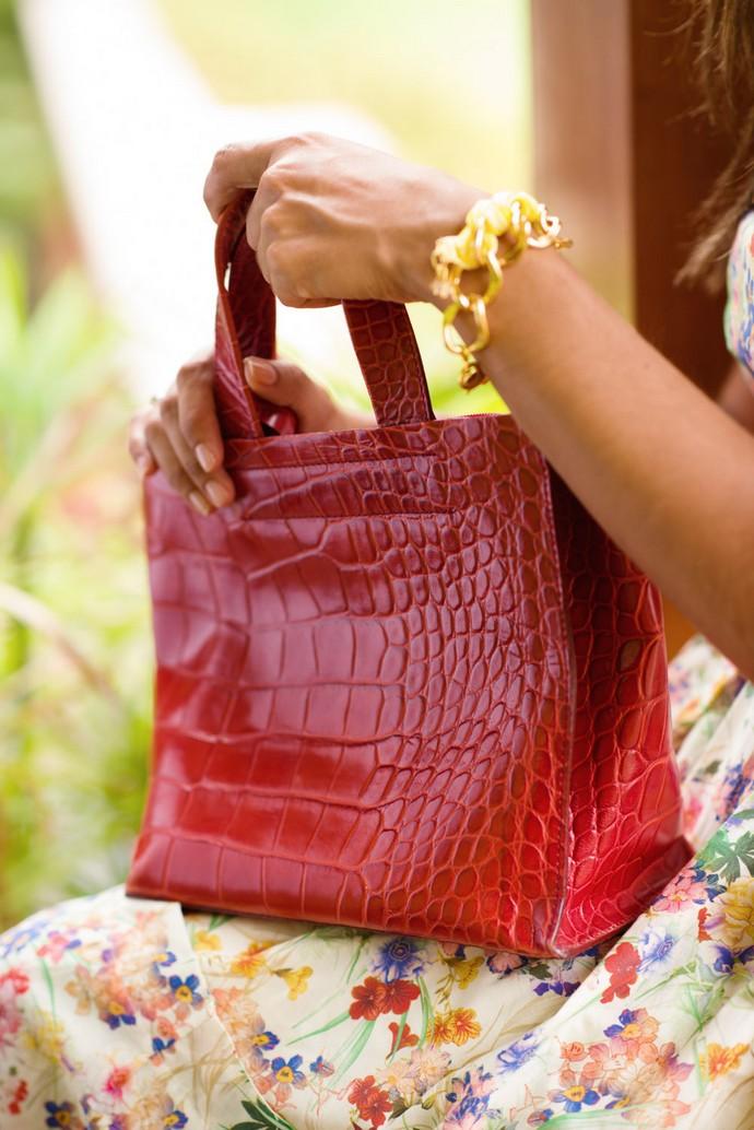 vestido etxart y panno flores cancan bolso furla rojo zapatos ante amarillos (3)