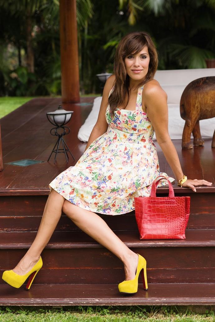 vestido etxart y panno flores cancan bolso furla rojo zapatos ante amarillos (5)