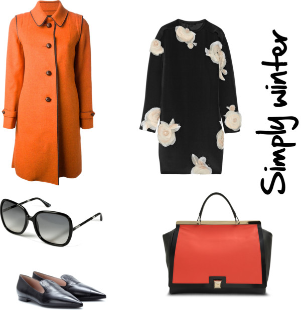 Look abrigo clásico vestido flores slippers