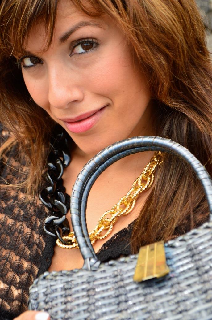 look tutu dorado nude cardigan calado maxi collar vintage fashionista _0643