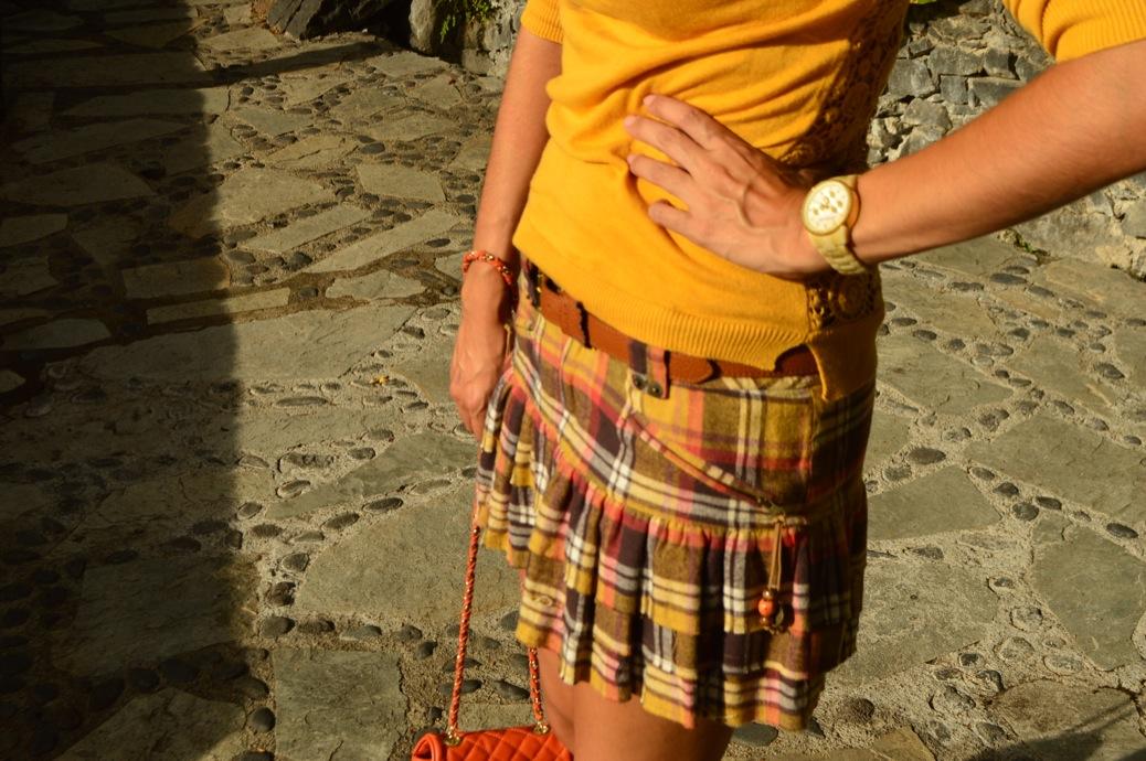 look falda cuadros amarillo jersey calado mostaza michael kors _0083