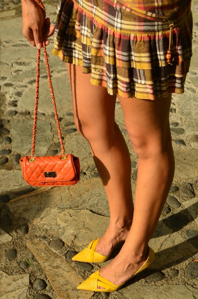 look falda cuadros amarillo jersey calado mostaza michael kors _0084