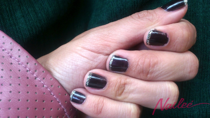 manimartes chocolate glitter orly take him to the cleaners halo