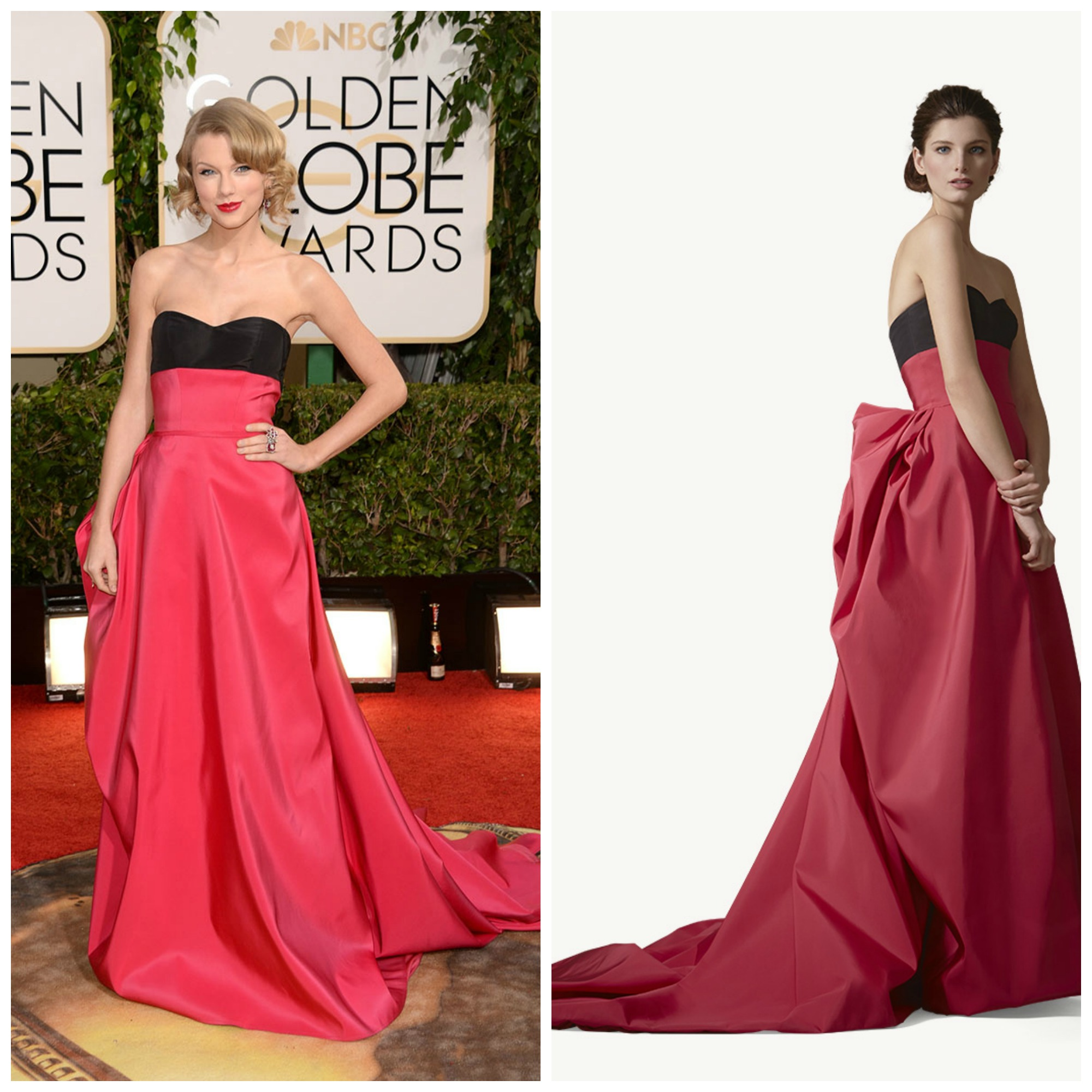 Taylor Swift de carolina herrera