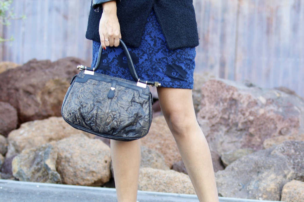 look azul negro print floral botas abiertas _7753p