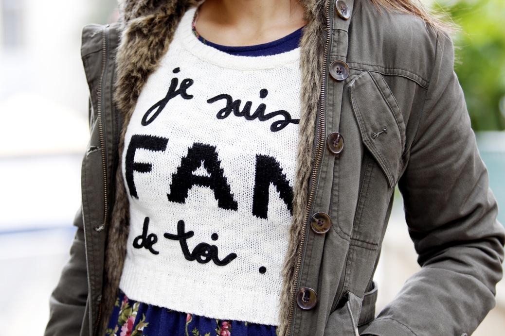 look abrigo pelo je suis ton fan stradivarius flores pelo fur 8250pr