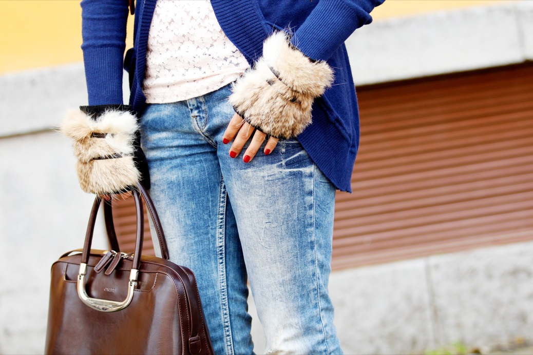 look  denim guantes pelo chaqueta primark baja encaje nude 9407pr