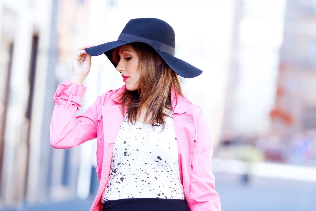 look pamela negra trech rosa chicle lady pura lopez 9463pr
