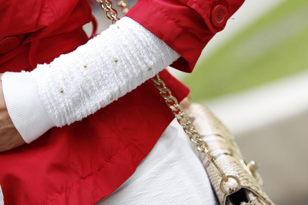 look falda blanca vintage chubasquero rojo python 8210pr