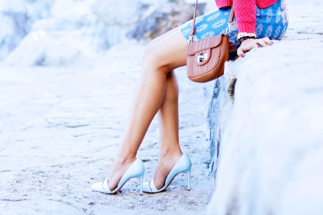 look falda tapicera crop top sombrero zapatoa azul bebe stradivarius9823p