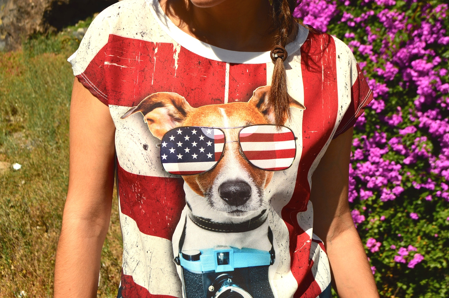 look fashion doggies tee