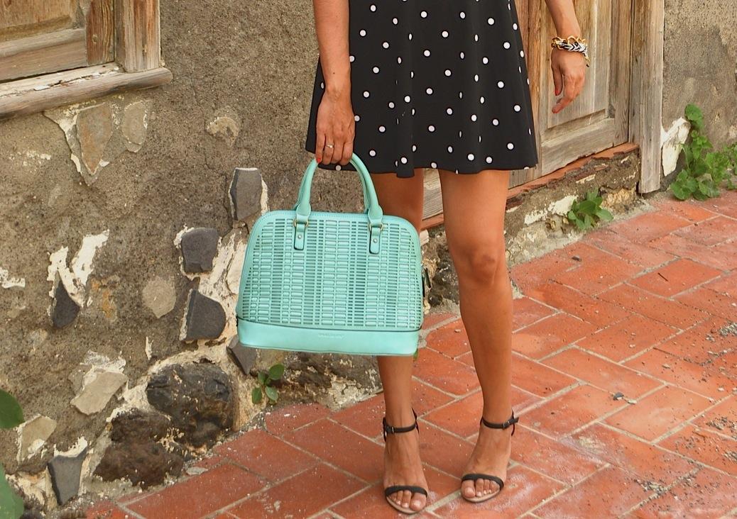 look vestido polka dots blanco negro pamela 19.36