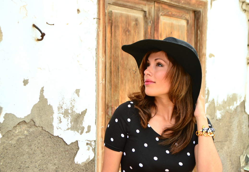 look vestido polka dots blanco negro pamela 20.34