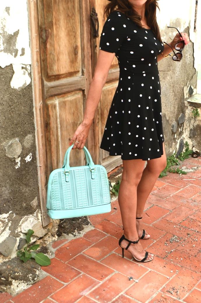 look vestido polka dots blanco negro pamela 21.13