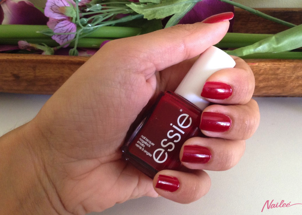 essie a list red review swatches nail polish _3143