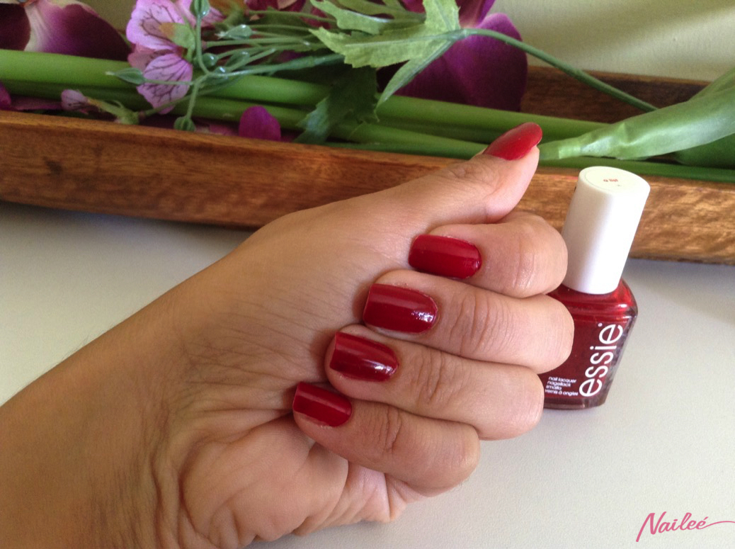 essie a list red review swatches nail polish _3146