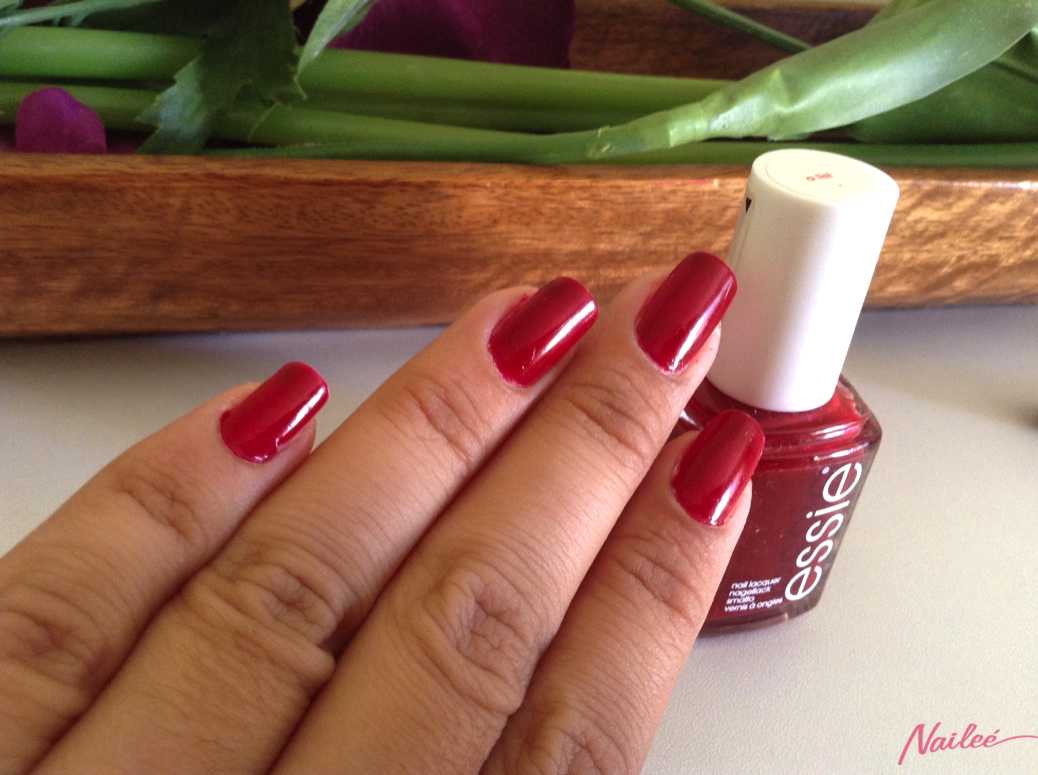 essie a list red review swatches nail polish _3148