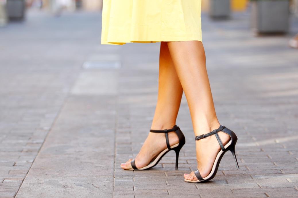 look falda amarilla lady abercrombie top cardigan chic 6