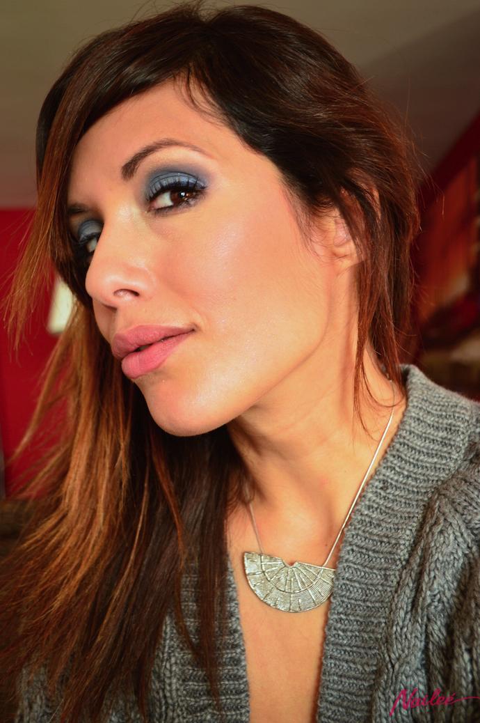 maquillaje ahumados azules fiesta