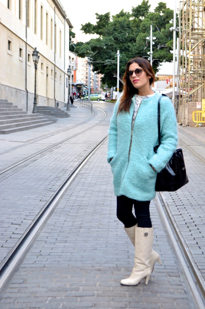 look abrigo mohair verde pantalon encerano vintage retro0333 2