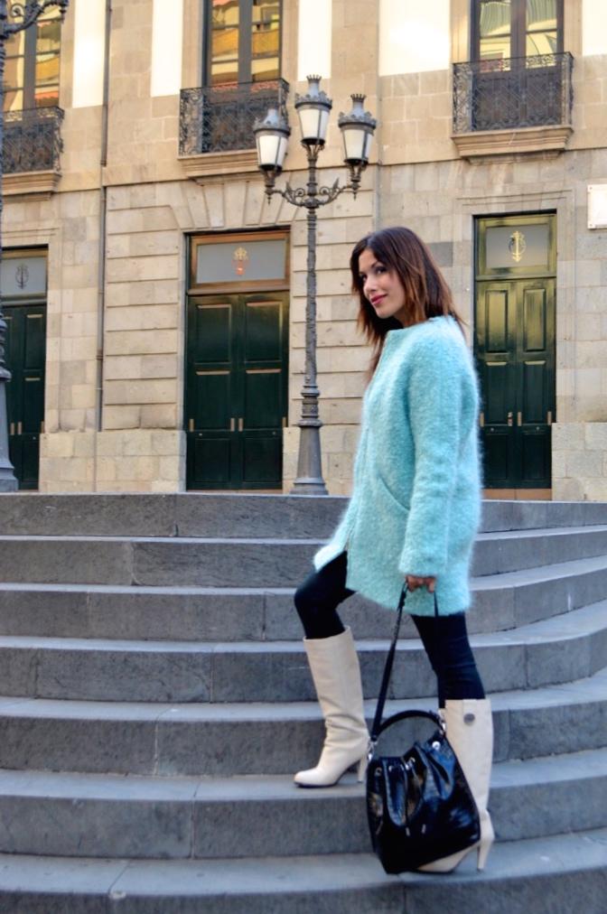 look abrigo mohair verde pantalon encerano vintage retro0338 2