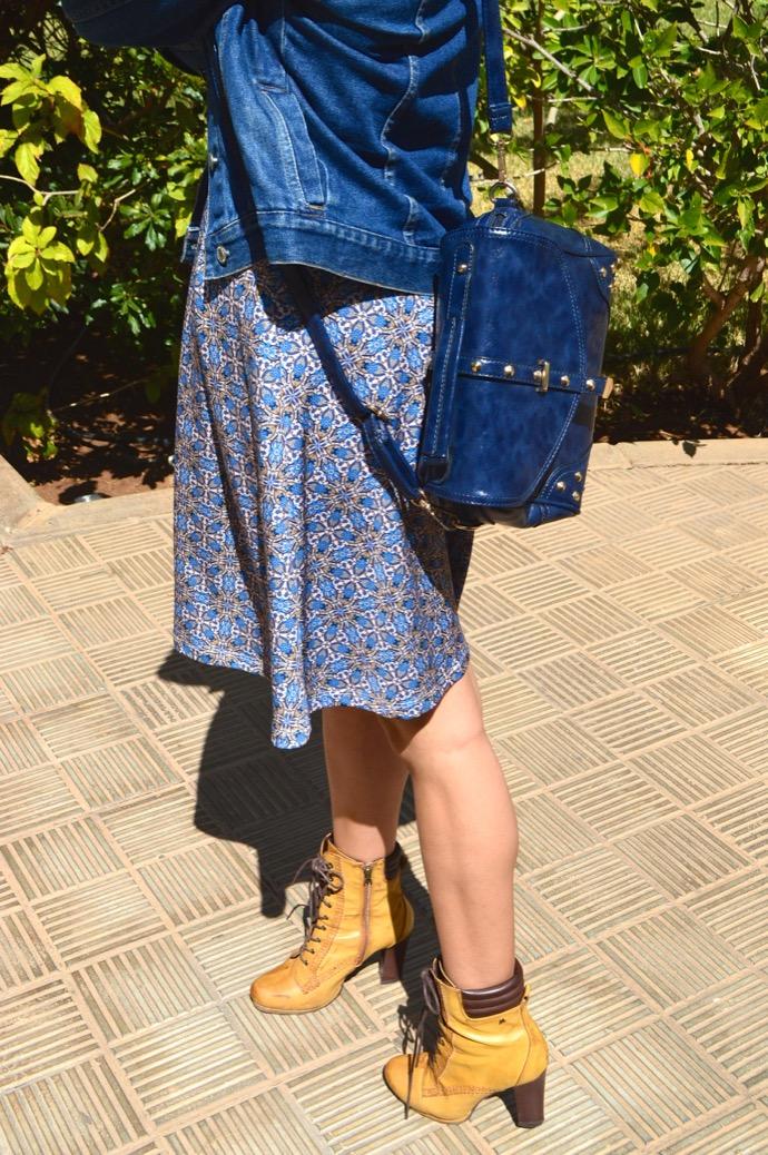 look falda azul gorro denim botin mariamare0040