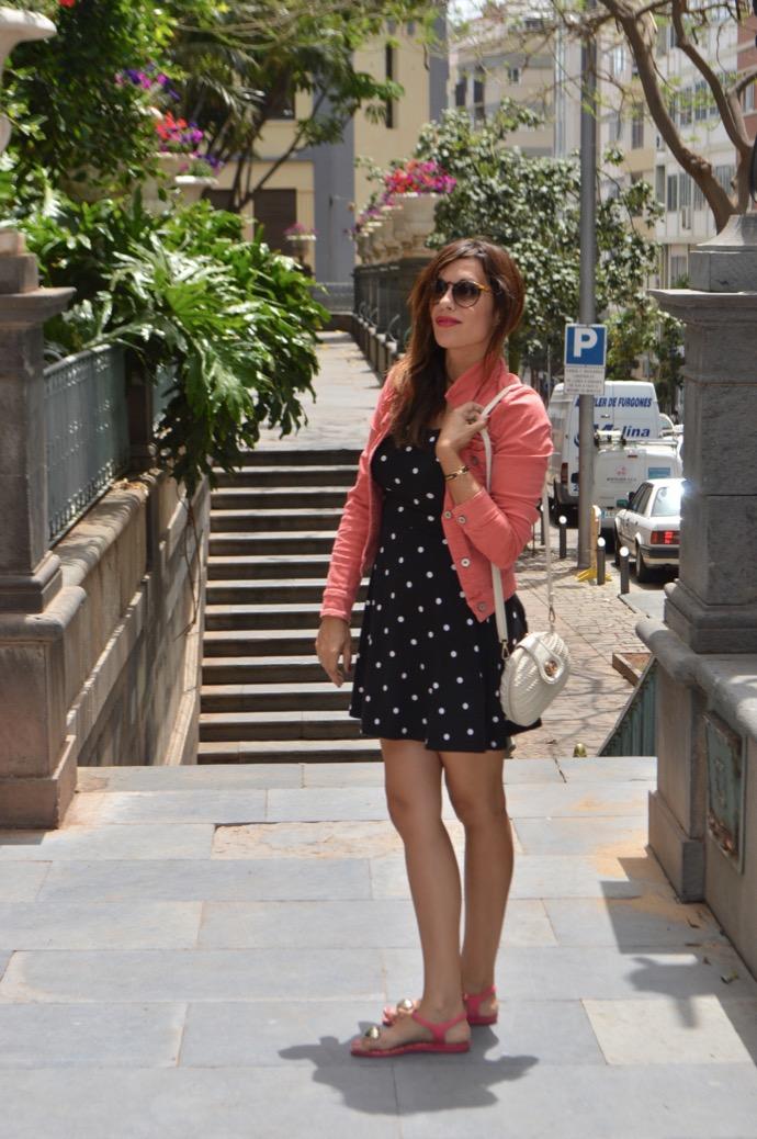 look vestido puntos denim rosa melissa corazon 0010