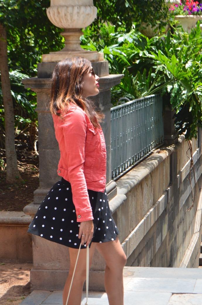 look vestido puntos denim rosa melissa corazon 0013
