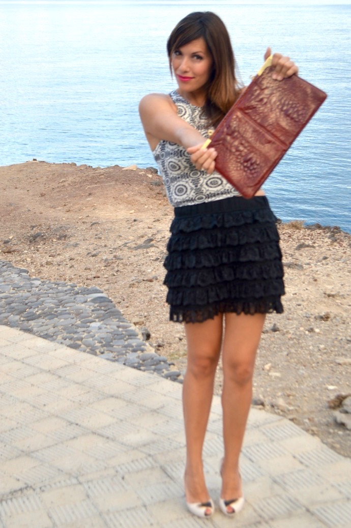 look falda encaje negra abercrombie mango piton 5