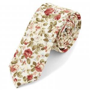 corbata-crema-con-flores-bohemian-revolt